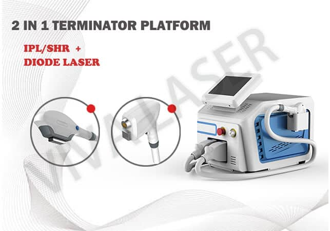 Diode laser + ipl 2 in 1 photo