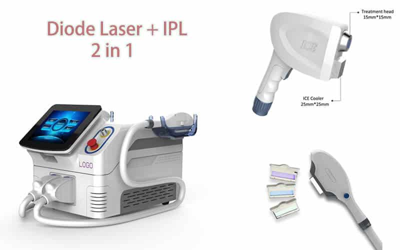 Diode laser + ipl 2 in 1 technology