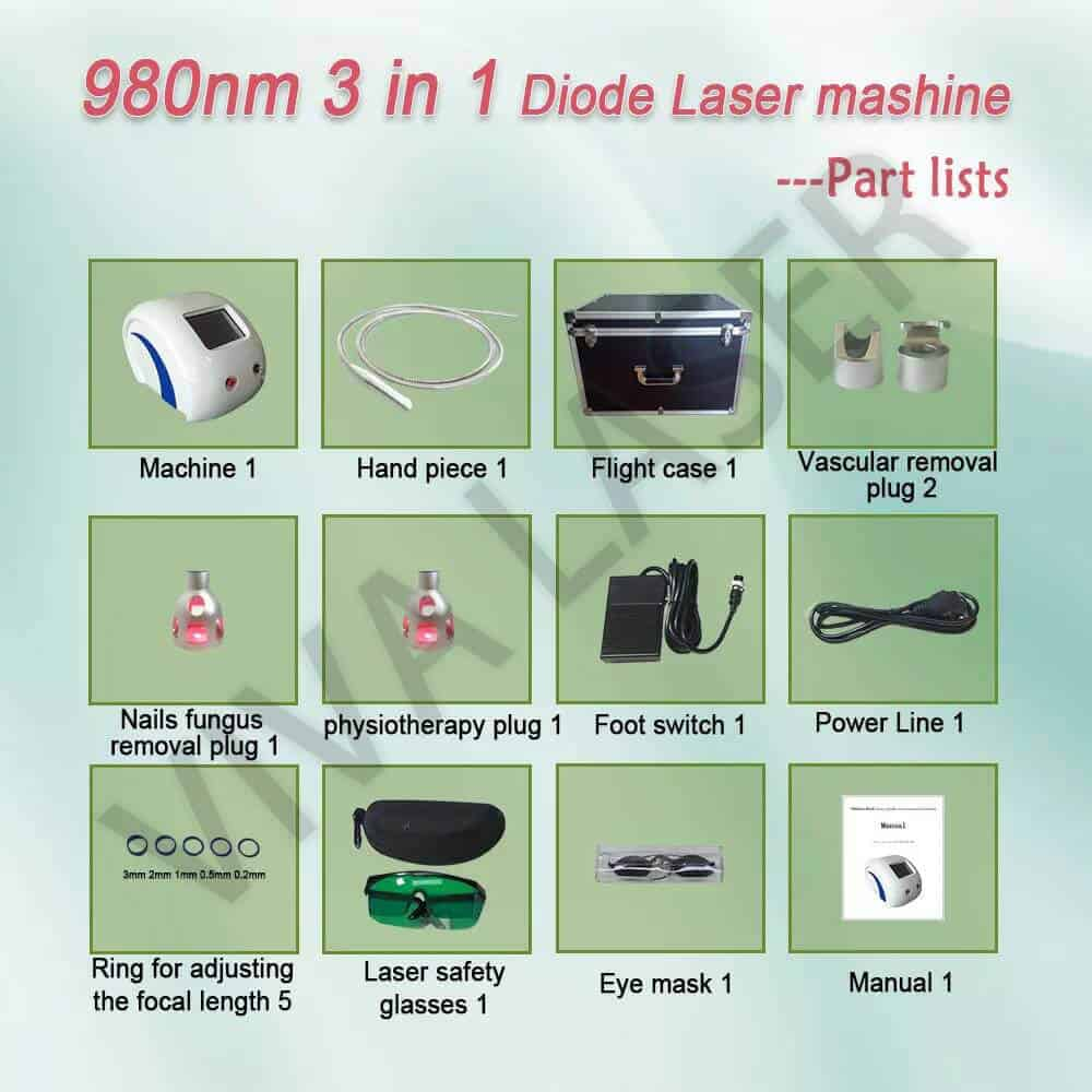 980nm diode laser machine 3 in 1