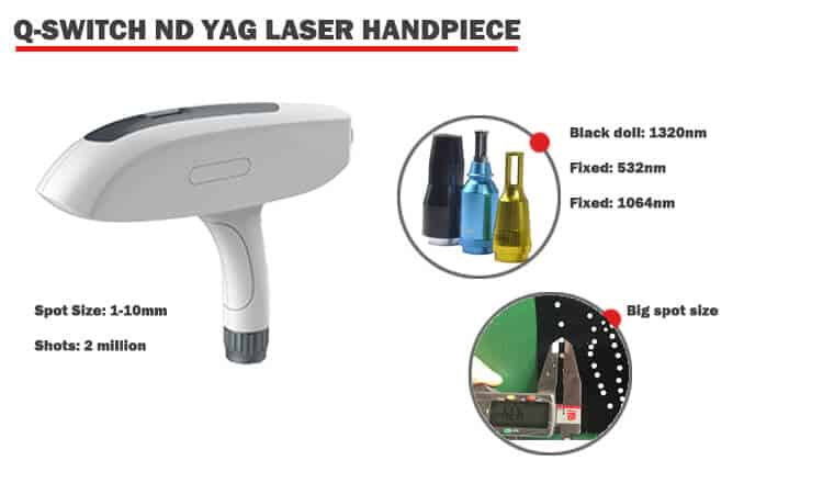 Laser carbon facial machine handpiece