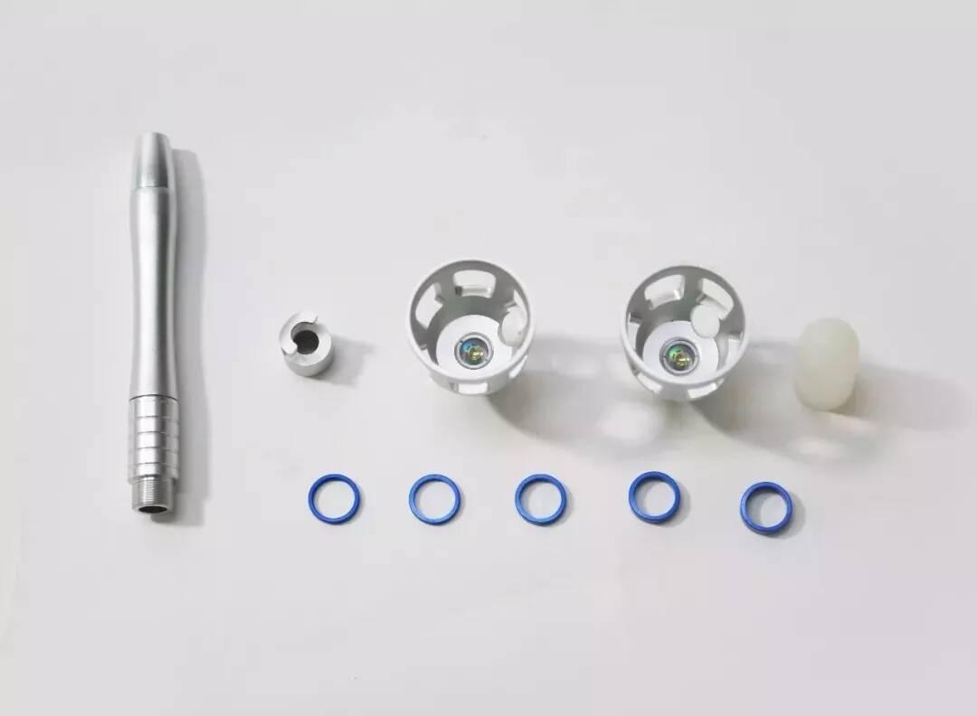 Laser spider vein removal handpiece