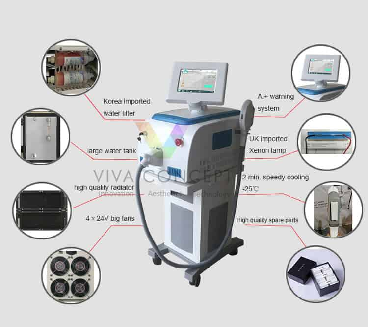 SHR hair removal machine